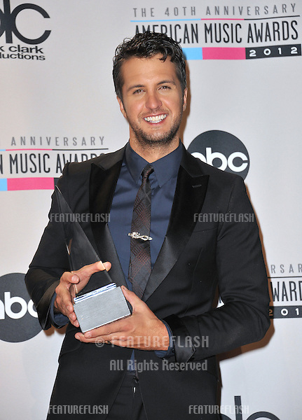 Luke Bryan at the 40th Anniversary American Music Awards at the Nokia Theatre L.A. Live..November 18, 2012  Los Angeles, CA.Picture: Paul Smith / Featureflash