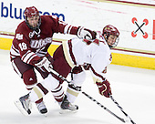 Doug Kublin (UMass - 18), Steven Whitney (BC - 21) - The Boston College Eagles defeated the University of Massachusetts-Amherst Minutemen 5-2 on Saturday, March 13, 2010, at Conte Forum in Chestnut Hill, Massachusetts, to sweep their Hockey East Quarterfinals matchup.