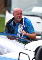 Jun 20, 2015; Bristol, TN, USA; NHRA top sportsman driver Tim Woiso during qualifying for the Thunder Valley Nationals at Bristol Dragway. Mandatory Credit: Mark J. Rebilas-