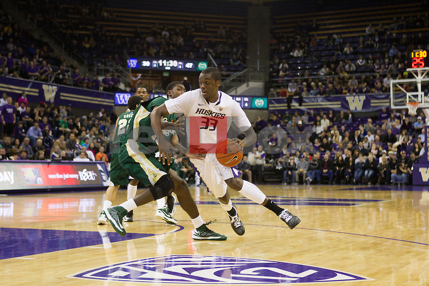 The University of Washington men's basketball team plays Colorado State University at Alaska Airlines Arena on November 24, 2012. (Photography by Max Waugh/Red Box Pictures)