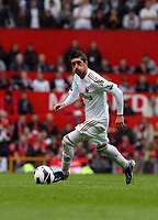 Pictured: Pablo Hernandez.<br /> Sunday 12 May 2013<br /> Re: Barclay's Premier League, Manchester City FC v Swansea City FC at the Old Trafford Stadium, Manchester.