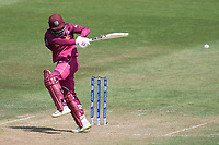 Shai Hope (West Indies) plays square of the wicket on his way to a century during West Indies vs New Zealand, ICC World Cup Warm-Up Match Cricket at the Bristol County Ground on 28th May 2019