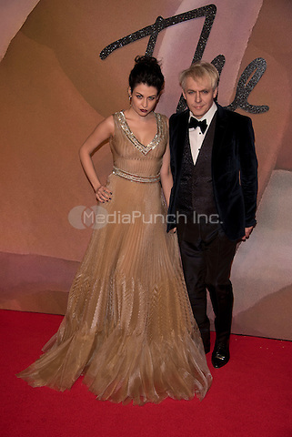 Nefer Suvio, Nick Rhodes<br /> The Fashion Awards 2016 , arrivals at the Royal Albert Hall, London, England on December 05 2016.<br /> CAP/PL<br /> ©Phil Loftus/Capital Pictures /MediaPunch ***NORTH AND SOUTH AMERICAS ONLY***