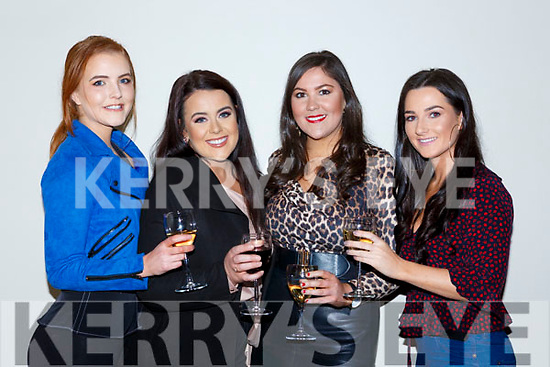 Sarah Potts, Ammey Mai O'Sullivan, Kitty Scannell and Catriona Scannell at the Killarney Strictly Come Dancing in the INEC on Friday night