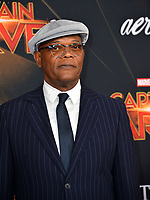 "LOS ANGELES, CA. March 04, 2019: Samuel L. Jackson at the world premiere of ""Captain Marvel"" at the El Capitan Theatre.<br /> Picture: Paul Smith/Featureflash"