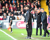 Lincoln City manager Danny Cowley in his technical are<br /> <br /> Photographer Andrew Vaughan/CameraSport<br /> <br /> Emirates FA Cup First Round - Lincoln City v Northampton Town - Saturday 10th November 2018 - Sincil Bank - Lincoln<br />  <br /> World Copyright © 2018 CameraSport. All rights reserved. 43 Linden Ave. Countesthorpe. Leicester. England. LE8 5PG - Tel: +44 (0) 116 277 4147 - admin@camerasport.com - www.camerasport.com