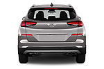 Straight rear view of a 2019 Hyundai Tucson SEL 5 Door SUV stock images