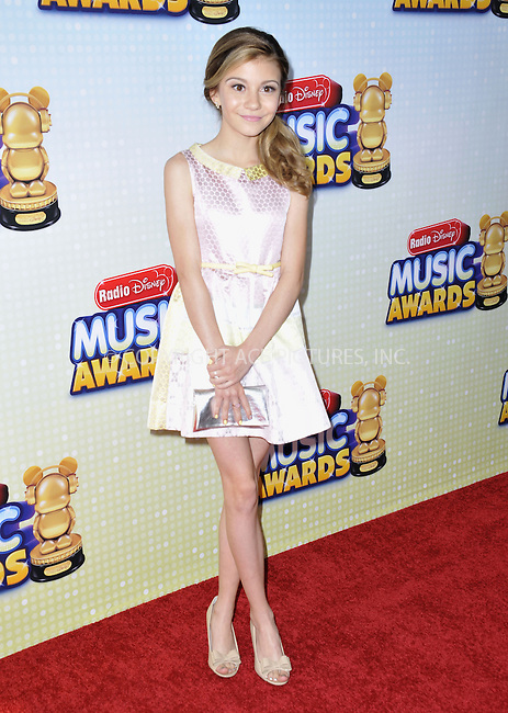 WWW.ACEPIXS.COM....April 27 2013, LA....G. Hannelius arriving at the 2013 Radio Disney Music Awards at the Nokia Theatre L.A. Live on April 27, 2013 in Los Angeles, California...........By Line: Peter West/ACE Pictures......ACE Pictures, Inc...tel: 646 769 0430..Email: info@acepixs.com..www.acepixs.com