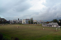 People play football at a sports complex in Batumi..