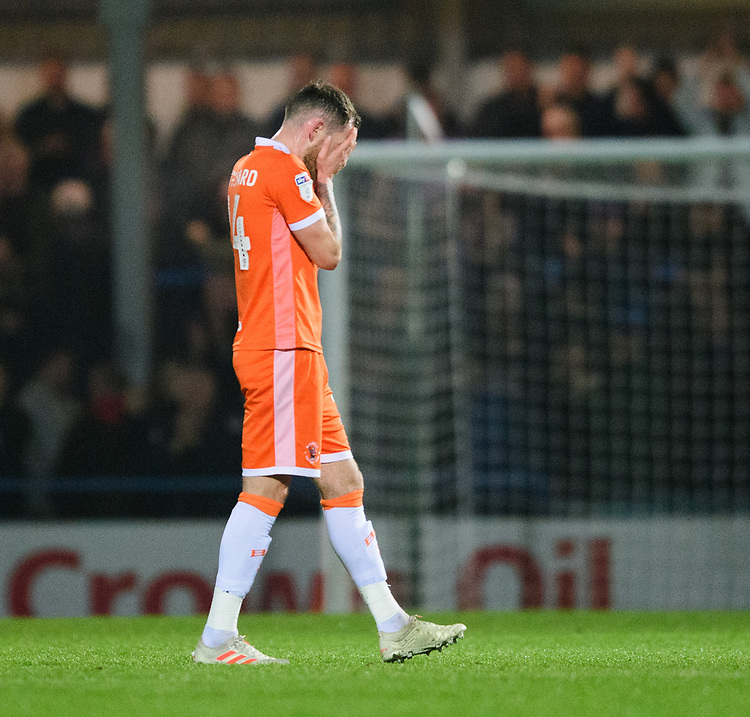 Blackpool's Harry Pritchard at the end of the game<br /> <br /> Photographer Chris Vaughan/CameraSport<br /> <br /> The EFL Sky Bet League One - Rochdale v Blackpool - Wednesday 26th December 2018 - Spotland Stadium - Rochdale<br /> <br /> World Copyright © 2018 CameraSport. All rights reserved. 43 Linden Ave. Countesthorpe. Leicester. England. LE8 5PG - Tel: +44 (0) 116 277 4147 - admin@camerasport.com - www.camerasport.com