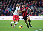 3rd December 2017, Vitality Stadium, Bournemouth, England; EPL Premier League football, Bournemouth versus Southampton; Charlie Daniels of Bournemouth and Nathan Redmond of Southampton battle for possession