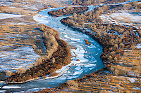 Icy Arkansas River east of Pueblo, Colorado. Feb 2014. 89793