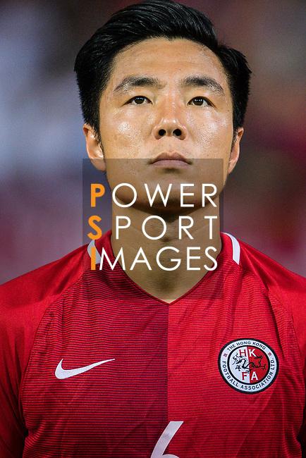Ju Yingzhi of Hong Kong during the International Friendly match between Hong Kong and Jordan at Mongkok Stadium on June 7, 2017 in Hong Kong, China. Photo by Marcio Rodrigo Machado / Power Sport Images