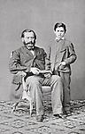 Sigmund Freud mit seinem Vater Jacob Freud. Photographie. um 1864.<br /> <br /> - 01.01.1864-31.12.1864<br /> <br /> Sigmund Freud with his father Jacob Freud. Photography. around 1864.<br /> <br /> - 01.01.1864-31.12.1864