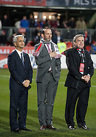 21 November 2010: MLS Commissioner Don Garber stands at attention during the national anthems in the 2010 MLS CUP between the Colorado Rapids and FC Dallas at BMO Field in Toronto, Ontario Canada..The Colorado Rapids won 2-1 in extra time....