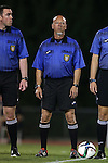 04 September 2015: Fourth Official Larry Williams. The North Carolina State University Wolfpack hosted the Oregon University Ducks at Dail Soccer Field in Raleigh, NC in a 2015 NCAA Division I Women's Soccer game. NC State won the game 2-0.