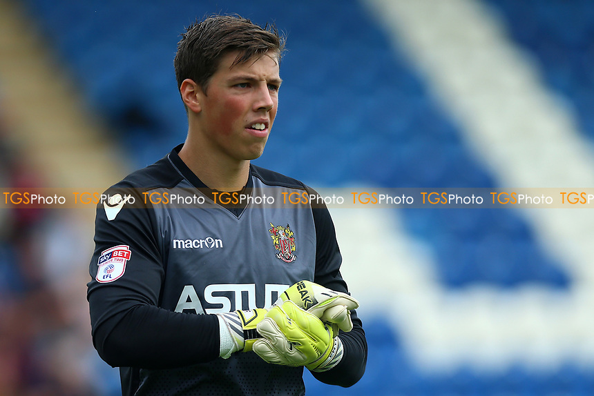 Joe Fryer of Stevenage during Colchester United vs Stevenage, Sky Bet EFL League 2 Football at the Weston Homes Community Stadium on 12th August 2017