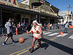 A photograph taken during the World Championship Outhouse Races in Virginia City, Nevada on Sunday, Oct. 8, 2017.