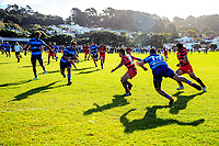 Action from the Swindale Sheild premier rugby match between Poneke and Johnsonville at Kilbirnie Park in Wellington, New Zealand on Saturday, 21 April 2018. Photo: Dave Lintott / lintottphoto.co.nz