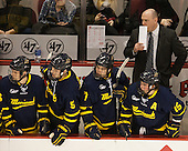 Curtis Carr (Merrimack - Associate Head Coach) - The Boston University Terriers defeated the visiting Merrimack College Warriors 4-0 (EN) on Friday, January 29, 2016, at Agganis Arena in Boston, Massachusetts.
