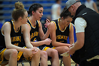 Action from the National Under-23 Basketball Championships Tournament women's match between Waikato and Taranaki at Te Rauparaha Arena in Porirua, New Zealand on Friday, 9 August 2019. Photo: Dave Lintott / lintottphoto.co.nz