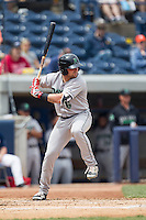 Dayton Dragons outfielder Ed Charlton (6) at bat against the West Michigan Whitecaps on April 24, 2016 at Fifth Third Ballpark in Comstock, Michigan. Dayton defeated West Michigan 4-3. (Andrew Woolley/Four Seam Images)