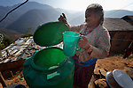 Tika Maya Pulami fetches water from a cistern in Salang, a village in the Dhading District of Nepal where Dan Church Aid, a member of the ACT Alliance, has provided a variety of support to local villagers in the wake of a devastating 2015 earthquake. The village's water system was destroyed by the quake, forcing women to walk two hours or more to a nearby river to fetch water. Working with a local organization, the Forum for Awareness and Youth Activity, the ACT Alliance rebuilt the village's water system.