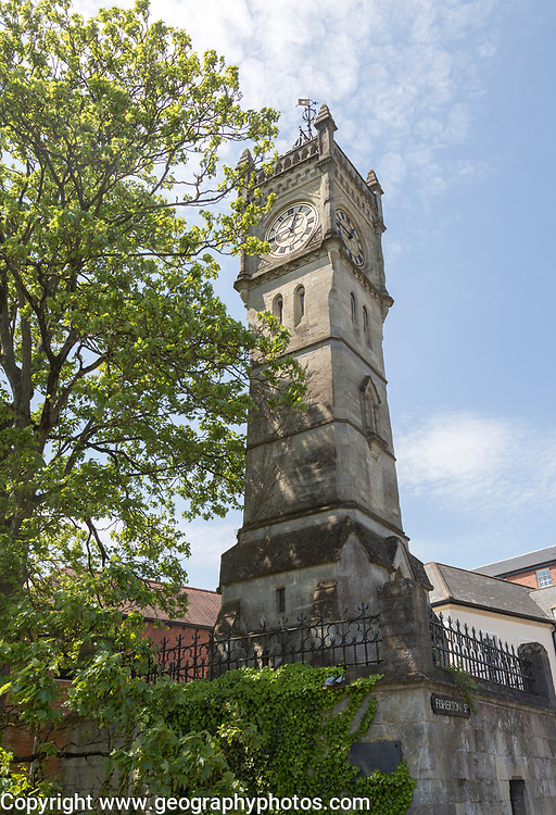 Nineteenth century Clock Tower, Fisherton Street, Salisbury, Wiltshire, England, UK