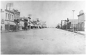 Gunnison Main Street with horses and buggies.<br /> Gunnison, CO  1882