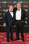 Fernando Esteso and Andres Pajares attend 30th Goya Awards red carpet in Madrid, Spain. February 06, 2016. (ALTERPHOTOS/Victor Blanco)
