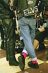 Rocker &quot;wear&quot;: Pink socks are essential.<br /> <br /> &copy;&nbsp;Hazel Thompson