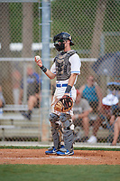 Jorden Jurkiewicz during the WWBA World Championship at the Roger Dean Complex on October 20, 2018 in Jupiter, Florida.  Jorden Jurkiewicz is a catcher from Forked River, New Jersey who attends Lacey Township High School and is committed to Maryland.  (Mike Janes/Four Seam Images)