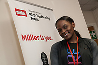 Daryll Neita visited the Muller Factory in Foston, Derbyshire