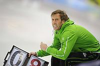 SCHAATSEN: HEERENVEEN: IJsstadion Thialf, 11-11-2012, KPN NK afstanden, Seizoen 2012-2013, Rutger Tijssen (assistent trainer/coach), ©foto Martin de Jong