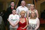 Leanne Malone with her family at her 21st in the Thatch....Photo NEWSFILE/Jenny Matthews.(Photo credit should read Jenny Matthews/NEWSFILE)....This Picture has been sent you under the condtions enclosed by:.Newsfile Ltd..The Studio,.Millmount Abbey,.Drogheda,.Co Meath..Ireland..Tel: +353(0)41-9871240.Fax: +353(0)41-9871260.GSM: +353(0)86-2500958.email: pictures@newsfile.ie.www.newsfile.ie.FTP: 193.120.102.198.