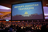 Attendees listen to remarks at the National Prayer Breakfast where U.S. President Donald Trump spoke February 2, 2017 in Washington, DC. Every U.S. president since Dwight Eisenhower has addressed the annual event.  <br /> Credit: Win McNamee / Pool via CNP