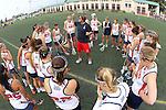 Santa Barbara, CA 02/18/12 - The Arizona team talks during a time out during their game against Santa Clara.