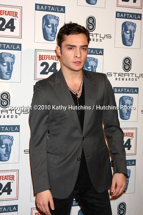 Ed Westwick.arriving at the BAFTA/LA Awards Season Tea Party 2010.Beverly Hills Hotel.Beverly Hills, CA.January 16, 2010.©2010 Kathy Hutchins / Hutchins Photo....