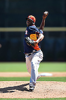 Houston Astros pitcher Roberto Hernandez (56) during a Spring Training game against the Toronto Blue Jays on March 9, 2015 at Florida Auto Exchange Stadium in Dunedin, Florida.  Houston defeated Toronto 1-0.  (Mike Janes/Four Seam Images)