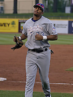 May 12, 2004:  Matt Kemp of the Columbus Catfish, South Atlantic League (low-A) affiliate of the Los Angeles Dodgers, during a game at Classic Park in Eastlake, OH.  Photo by:  Mike Janes/Four Seam Images