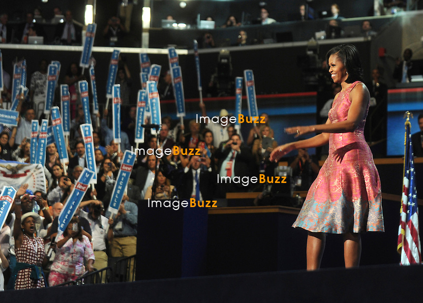 Michelle Obama at the Democratic Convention in Charlotte, North Carolina. September 4, 2012.