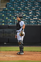***Temporary Unedited Reference File***Jacksonville Suns catcher Francisco Arcia (28) during a game against the Jackson Generals on May 4, 2016 at The Ballpark at Jackson in Jackson, Tennessee.  Jackson defeated Jacksonville 11-6.  (Mike Janes/Four Seam Images)