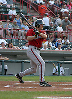 August 20, 2003:  Rich Lane of the Harrisburg Senators during a game at Jerry Uht Park in Erie, Pennsylvania.  Photo by:  Mike Janes/Four Seam Images