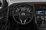 Steering wheel view of a 2013 Mazda CX9