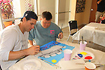 One Life To Live Austin Peck and Troy paint at the Painting Party on May 15, 2011 on Marco Island, Florida - SWSL Soapfest Charity Weekend May 14 & !5, 2011 benefitting several children's charities including the Eimerman Center providing educational & outreach services for children for autism. see www.autismspeaks.org. (Photo by Sue Coflin/Max Photos)