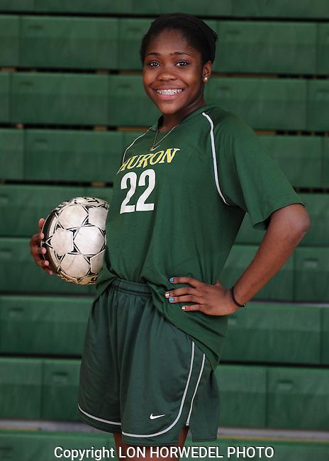 Huron High School girl's junior varsity girl's soccer, 4-10-13.