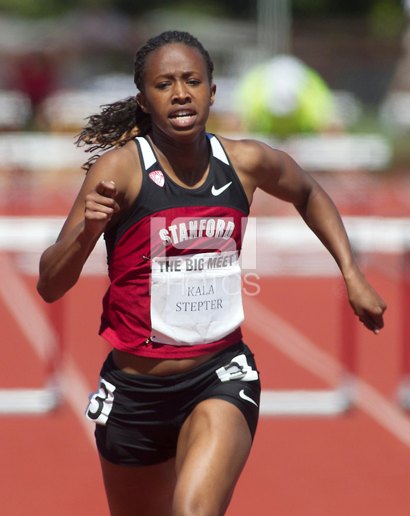 Stanford, CA., April 20, 2013,--Stanford's Kala Stepter runs in the 119 Big Meet at Cobb Track and Angell Field at Stanford University.