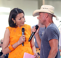 Ann Curry interviews Kenny Chesney at NBC's Today Show during the Toyota Concert Series in New York City. June 22, 2012. © RW/MediaPunch Inc. NORTEPHOTO.COM<br />