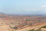 Landscape, Ranohira to Ranomafana, Madagascar, showing farmland, agriculture
