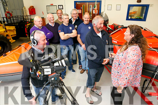 Banna Rescue Crew involved in making a local film documentary on the History of Ardfert. Pictured  James McCarthy, P J O'Riordan, James O'Louglin, Thomas Ward, Brian Crean, Steve Baker, Richard Hurley, Thomas Fitzgerald and Catherine McCarthy